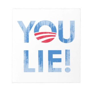 YOU LIE T-shirt Faded.png Memo Pad