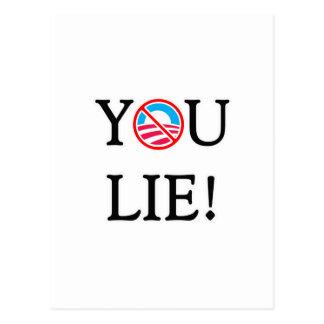 You Lie T Shirt Postcard
