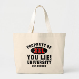You Lie! University Canvas Bags