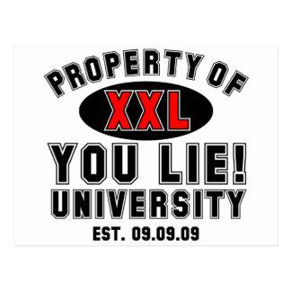 You Lie! University Postcard