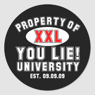 You Lie! University Classic Round Sticker