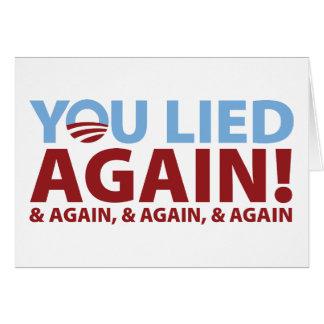 You Lied Again! Card