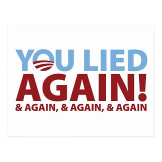 You Lied Again! Postcard