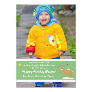 """You Light Up My Antlers Photo Holiday Card 5"""" X 7"""" Invitation Card"""