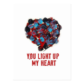 You light up my heart Postcard