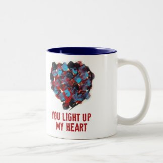 You light up my heart Two-Tone coffee mug