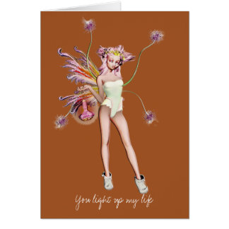 You light up my life stationery note card