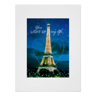 you light up my life eiffel tower perfect poster