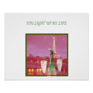 you light up my life eiffel tower poster
