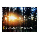 You Light Up My Life Happy Valentine's Day Card
