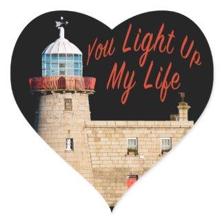 You Light Up My Life Heart Sticker