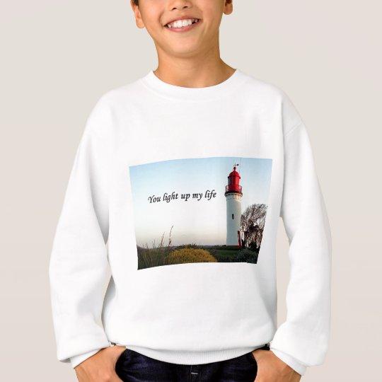 You light up my life: lighthouse sweatshirt