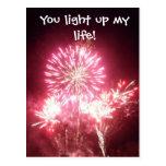 You light up my life! postcard