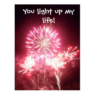 You light up my life! postcard