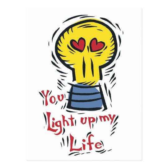 You Light Up My Life Postcard