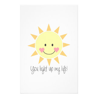 You Light Up My Life! Custom Stationery