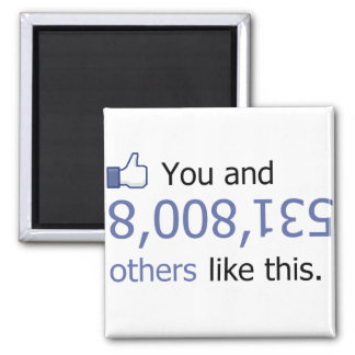You Like 8008135 Thumbs Up 2 Inch Square Magnet