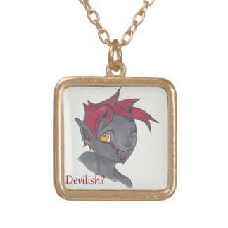 You Lil Devil Gold Plated Necklace