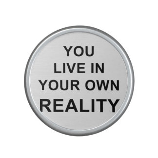 YOU LIVE IN YOUR OWN REALITY SPEAKER
