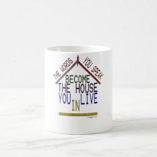 you live inside your words coffee mug