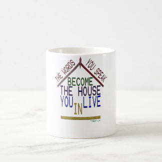you live inside your words classic white coffee mug