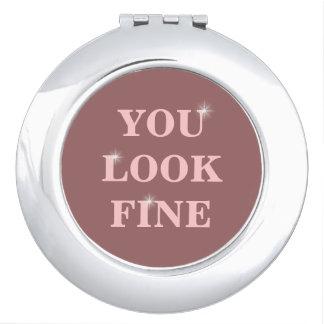 you look fine travel mirror