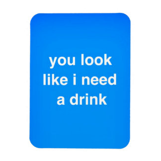 You look like I need a drink funny insults laughs Magnet