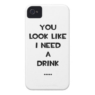 You look like i need a drink ... funny quote meme iPhone 4 Case-Mate cases