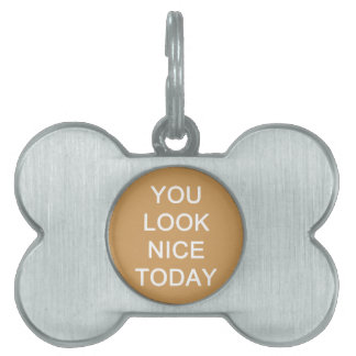 You Look Nice Today Pet ID Tag