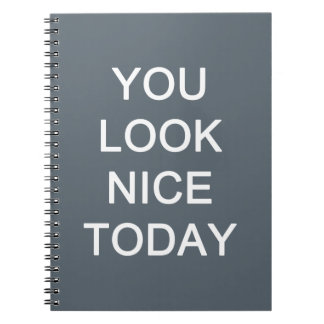 You Look Nice Today Spiral Notebook