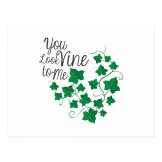 You Look Vine Postcard