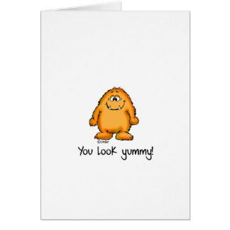 You look yummy - cute yellow monster by send2smile note card