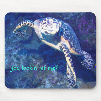 you lookin' at me? mouse pad