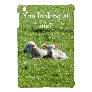 You Looking at Me? Cute Lambs iPad Mini Case