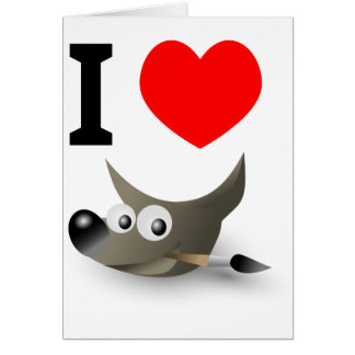 You love GIMP? Show it! Greeting Card