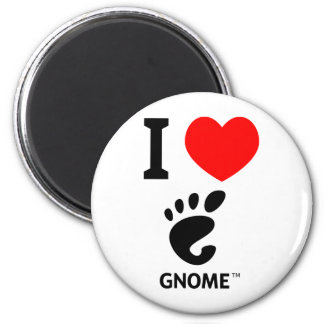 You love Gnome? Show it! 2 Inch Round Magnet