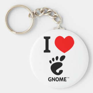 You love Gnome? Show it! Basic Round Button Keychain