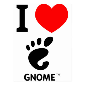 You love Gnome? Show it! Postcard