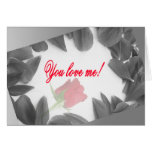 You love me! card