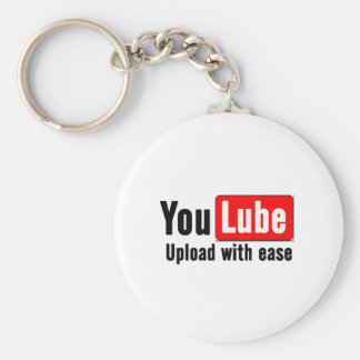 You Lube Basic Round Button Keychain