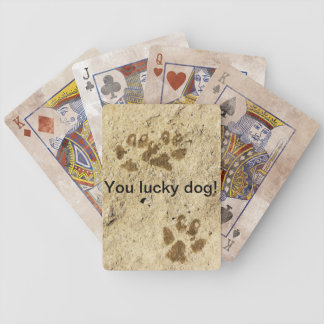 You lucky dog! playing cards