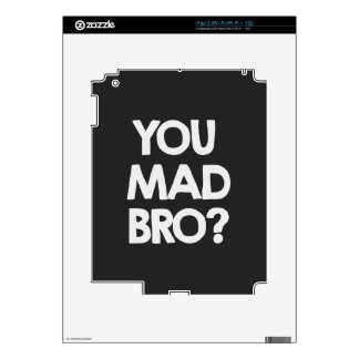 You mad bro? decals for iPad 2