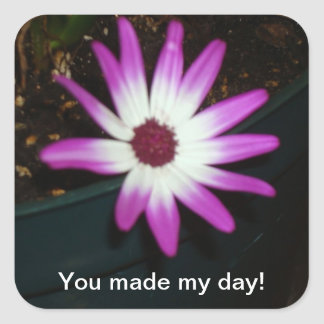 You made my day! square sticker