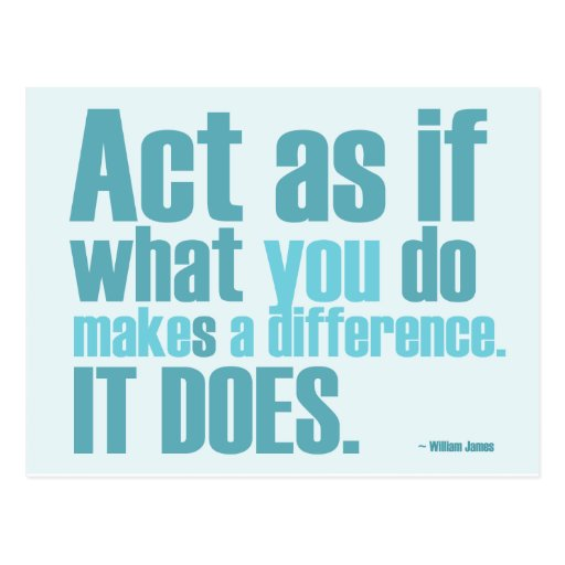 You Make A Difference Motivational Postcard
