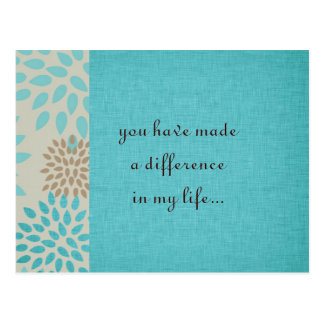 You Make a Difference Postcard