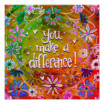 You Make a Difference Poster