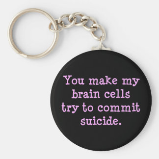You make me brain dead (2) keychain