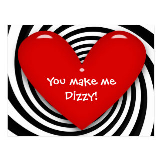 You make me Dizzy Postcard