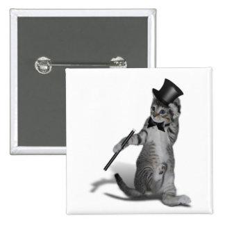 You make me feel like Dancing! Tap Dancing Cat 2 Inch Square Button
