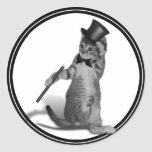 You make me feel like Dancing! Tap Dancing Cat Classic Round Sticker